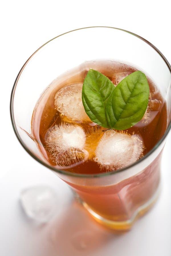 玻璃冰茶 免版税库存照片