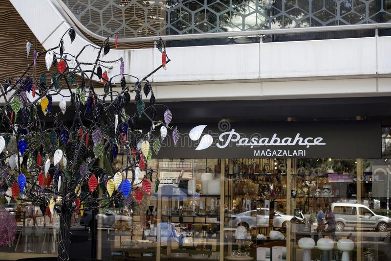 玻璃制造商商店视图在伊斯坦布尔 免版税库存图片