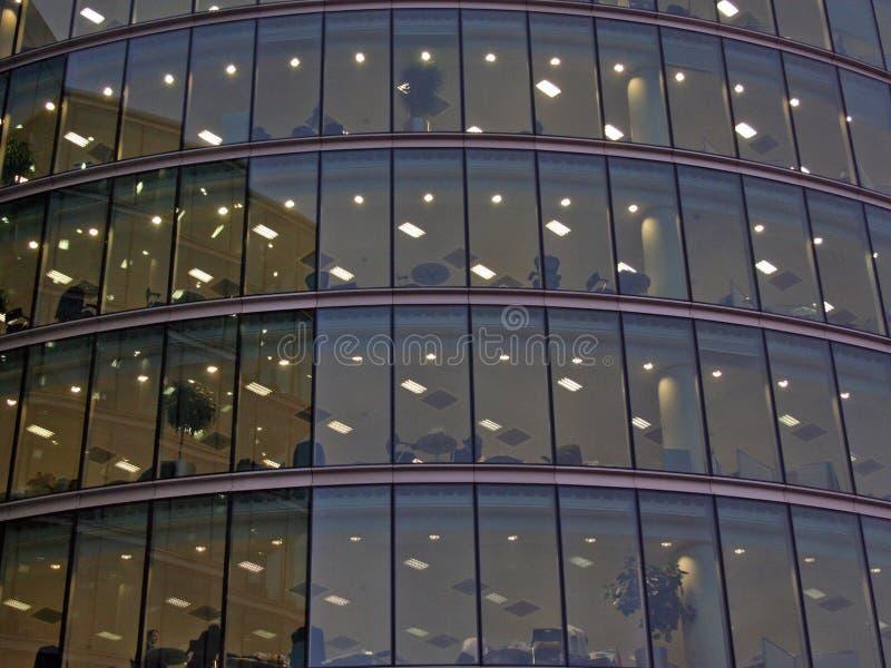 玻璃办公室 免版税库存图片