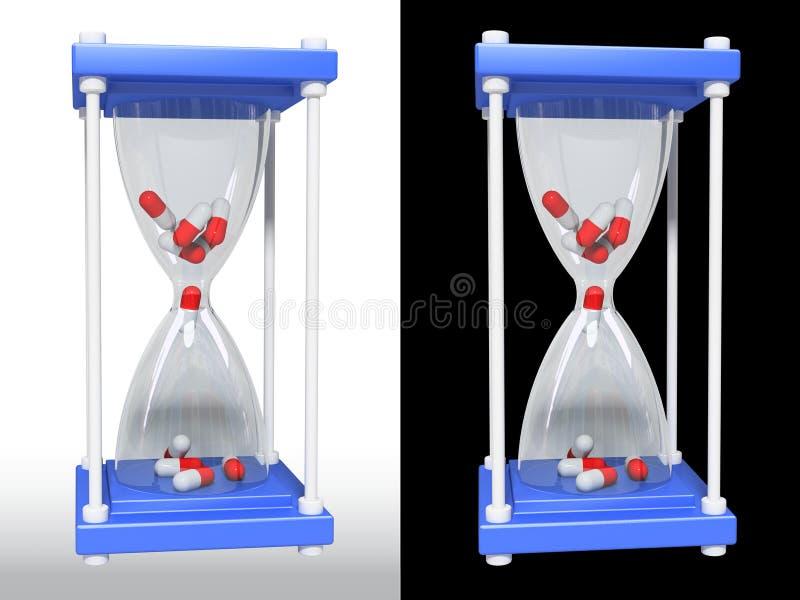 玻璃医药药片 库存图片
