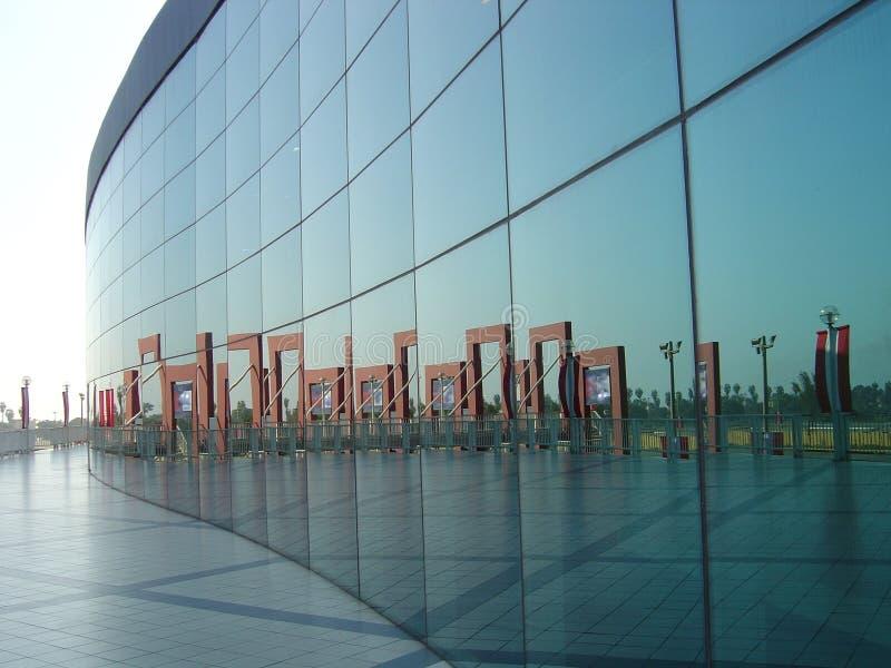 玻璃反映墙壁 免版税库存照片