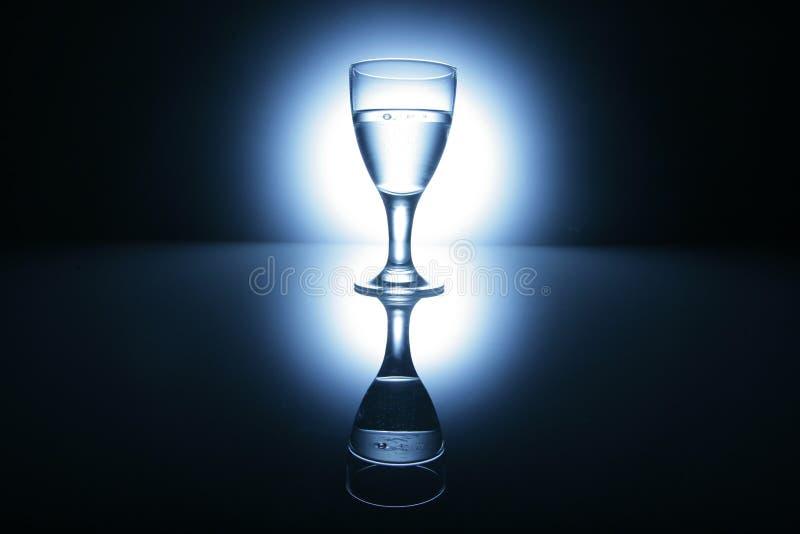 玻璃反映水 免版税库存照片