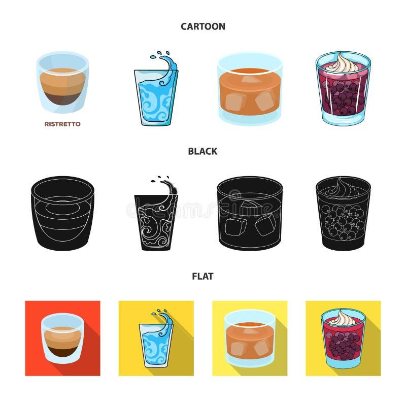 玻璃和透明标志传染媒介设计  设置股票的玻璃和空的传染媒介象 库存例证