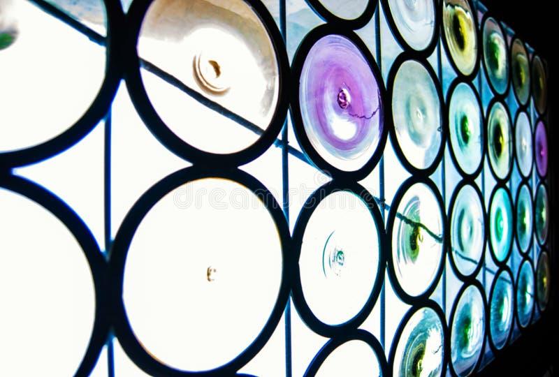 玻璃和颜色圈子  免版税图库摄影