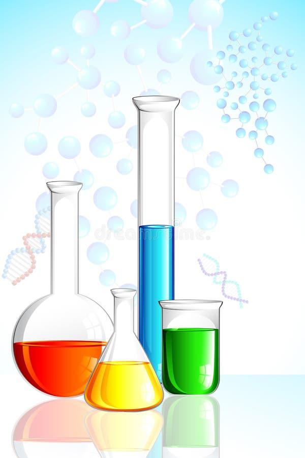 玻璃器皿实验室 向量例证