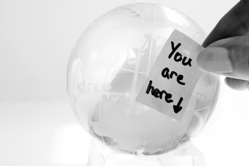 玻璃地球消息 免版税库存图片