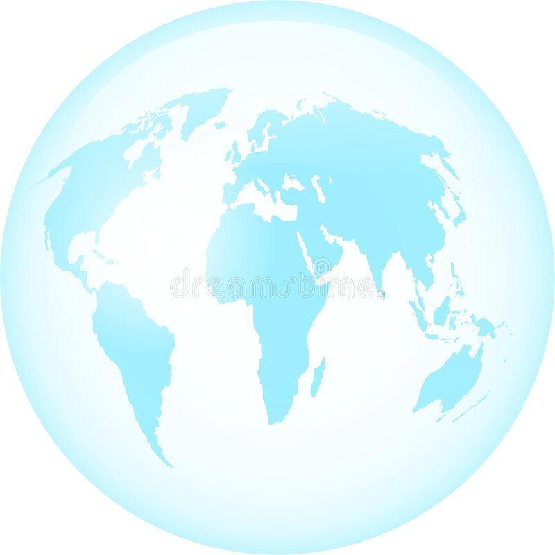 玻璃地球 库存例证