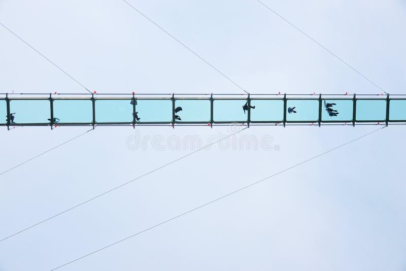 玻璃天桥 免版税库存照片