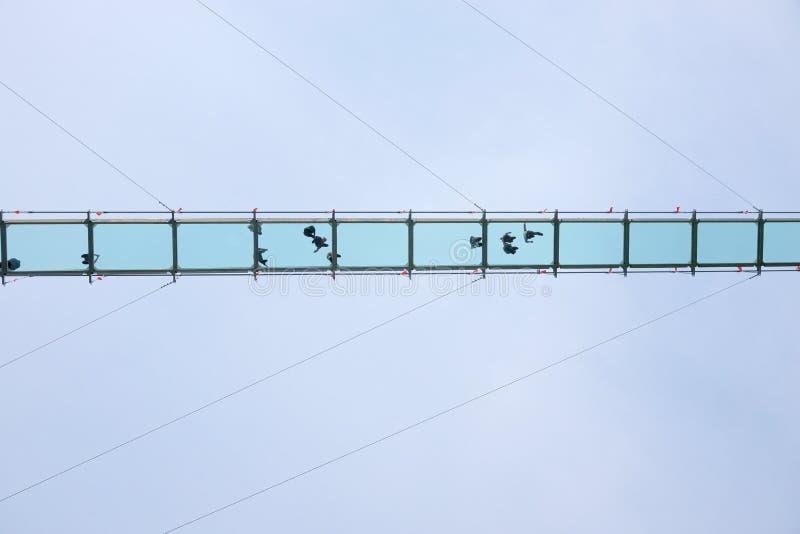 玻璃天桥 免版税库存图片