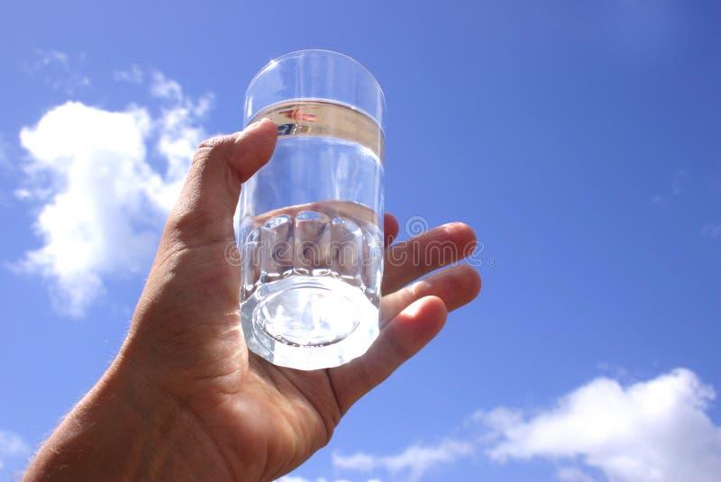 玻璃天空水 库存图片