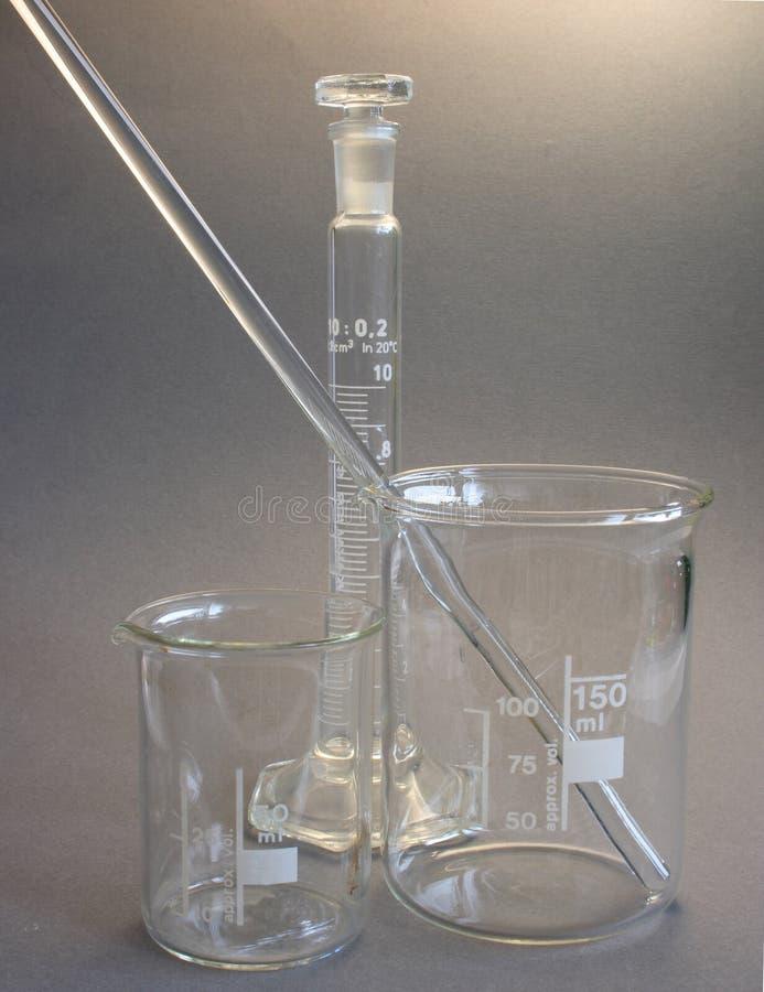 玻璃实验室 免版税库存照片