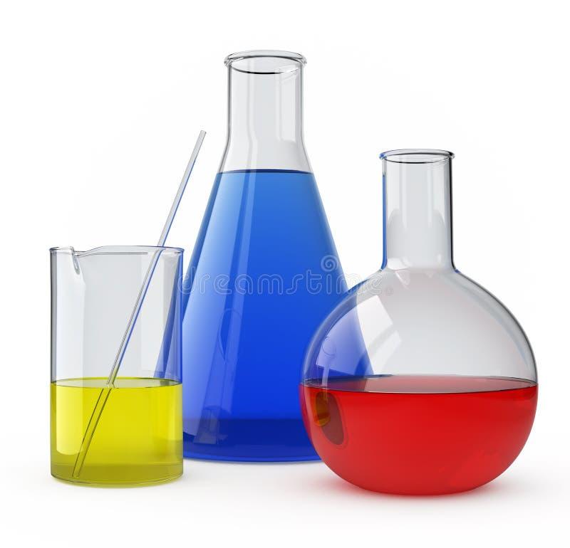 玻璃实验室 库存例证