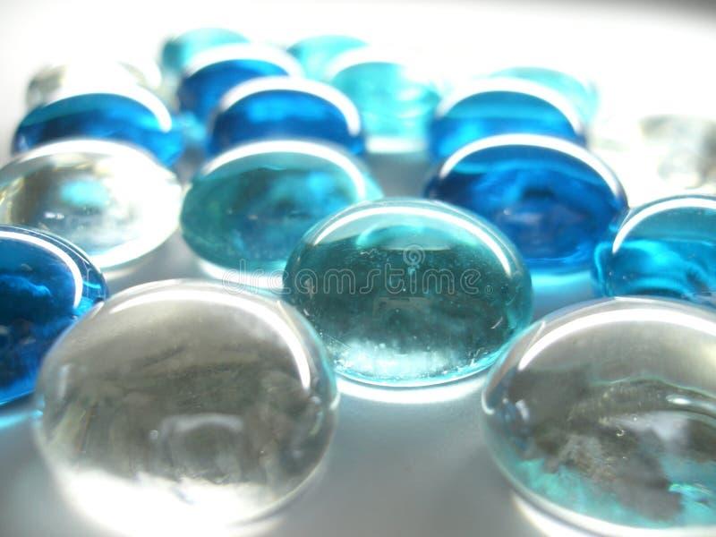 玻璃小卵石 免版税库存图片