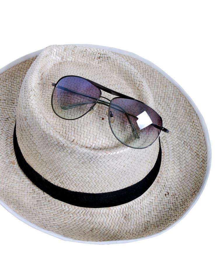 玻璃帽子秸杆星期日 免版税库存图片