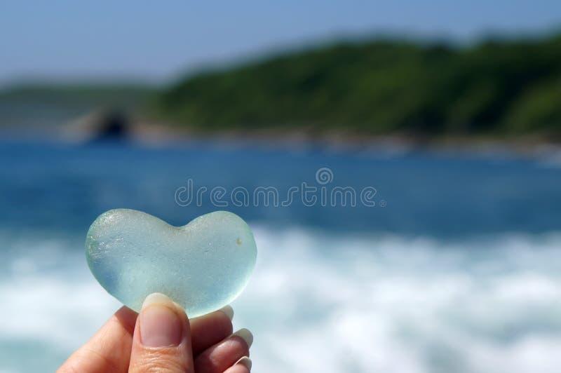玻璃心脏作为爱的声明 库存图片
