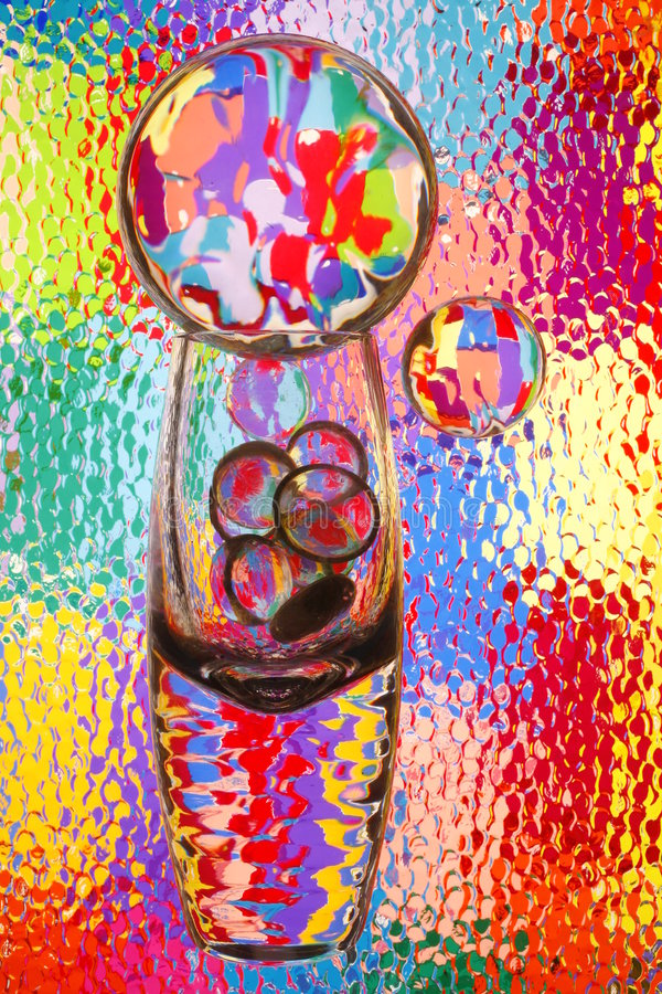 玻璃抽象明亮的颜色 免版税库存图片