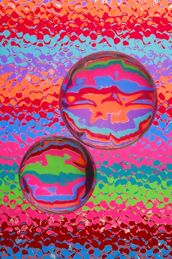 玻璃抽象的颜色 库存图片