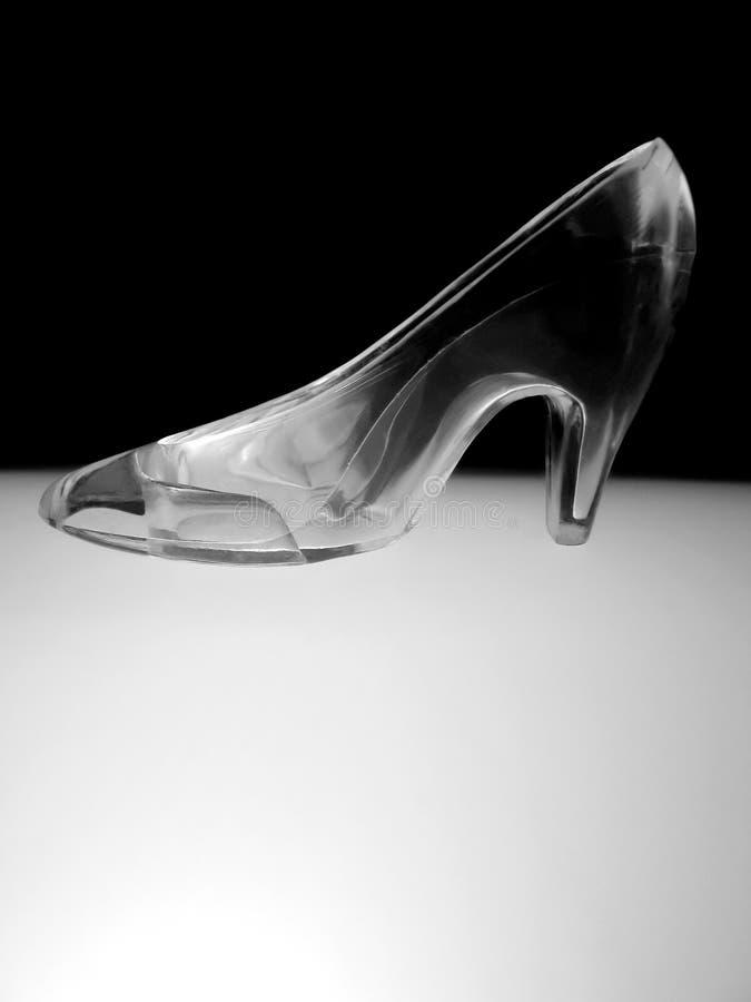 玻璃拖鞋 图库摄影