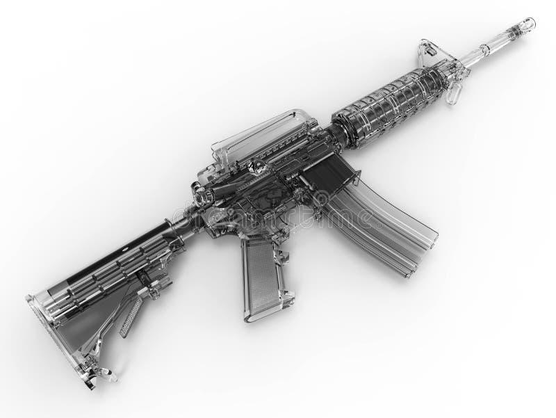 玻璃攻击步枪透视图 向量例证