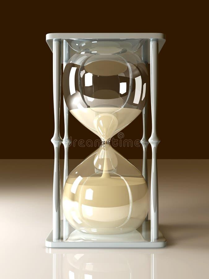 玻璃时数 向量例证