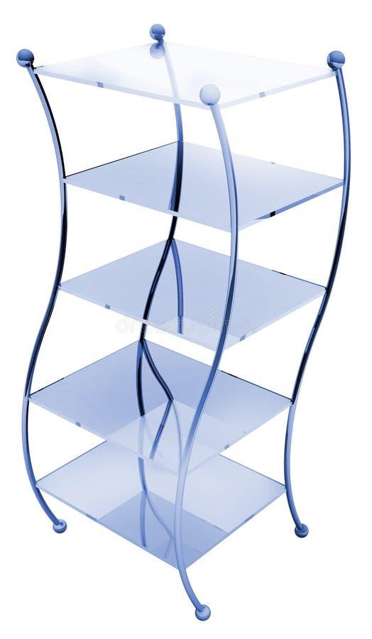 玻璃架子 向量例证