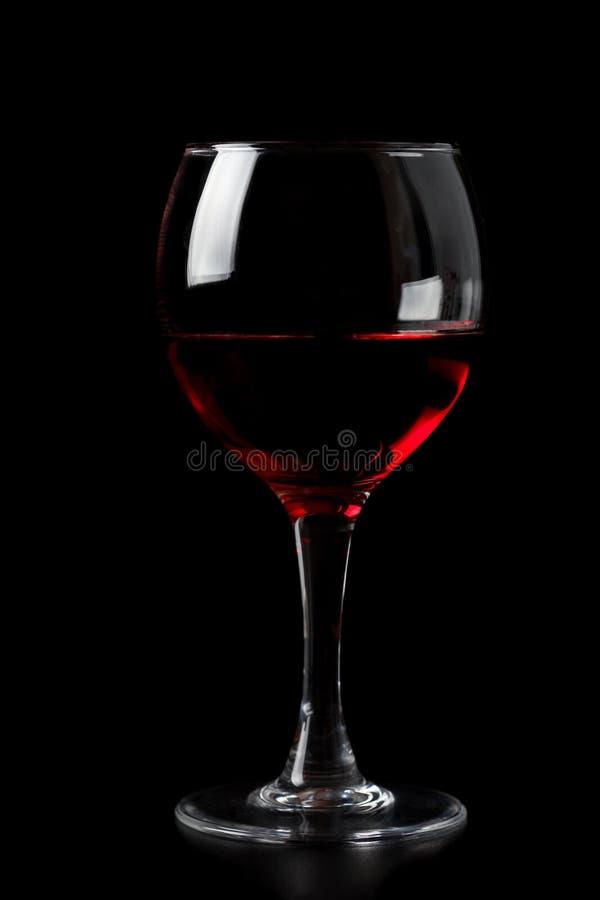 玻璃查出的红葡萄酒 免版税库存照片