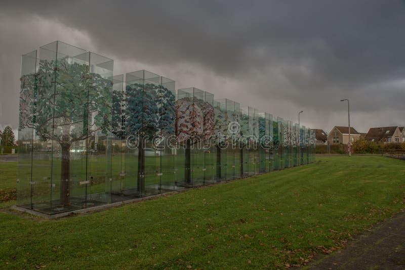 玻璃树在Haaksbergen 免版税库存图片