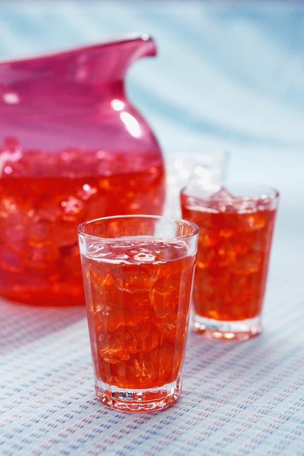 玻璃桑格里酒 免版税库存图片