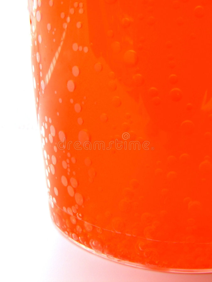 玻璃桔子水 免版税库存图片