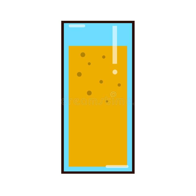 玻璃汁液桔子 有机热带水果饮料 健康饮食和干净的吃概念 高玻璃用饮料 向量例证