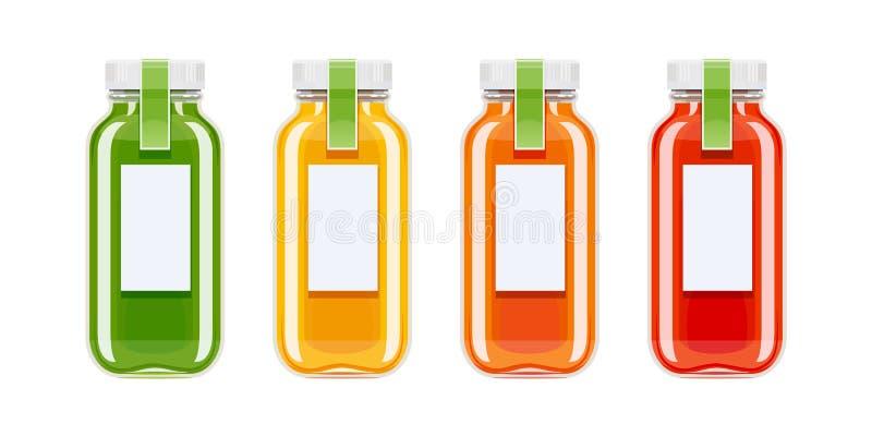 玻璃汁液瓶 生态饮料 库存例证
