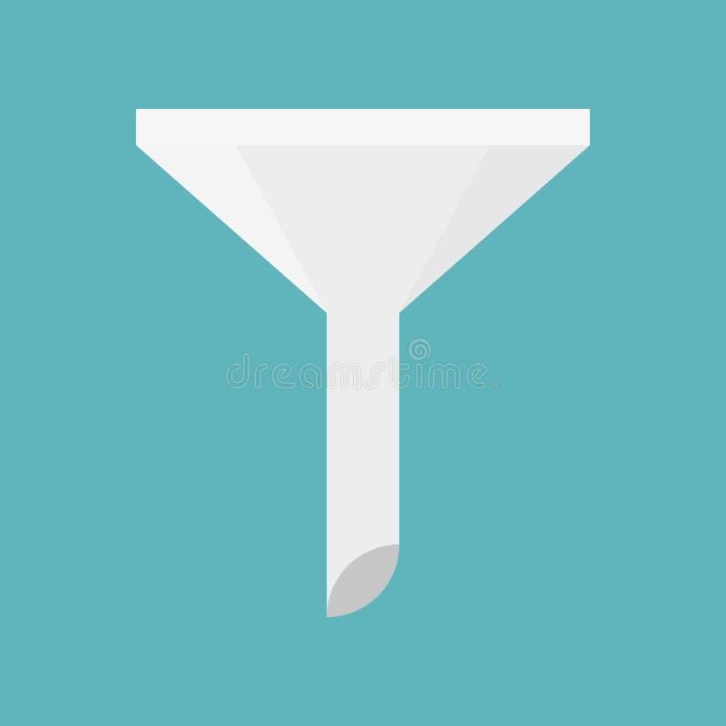 玻璃漏斗、厨房器物和实验室设备平的desi 向量例证
