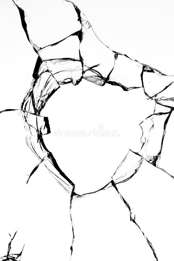 玻璃漏洞射击 免版税图库摄影