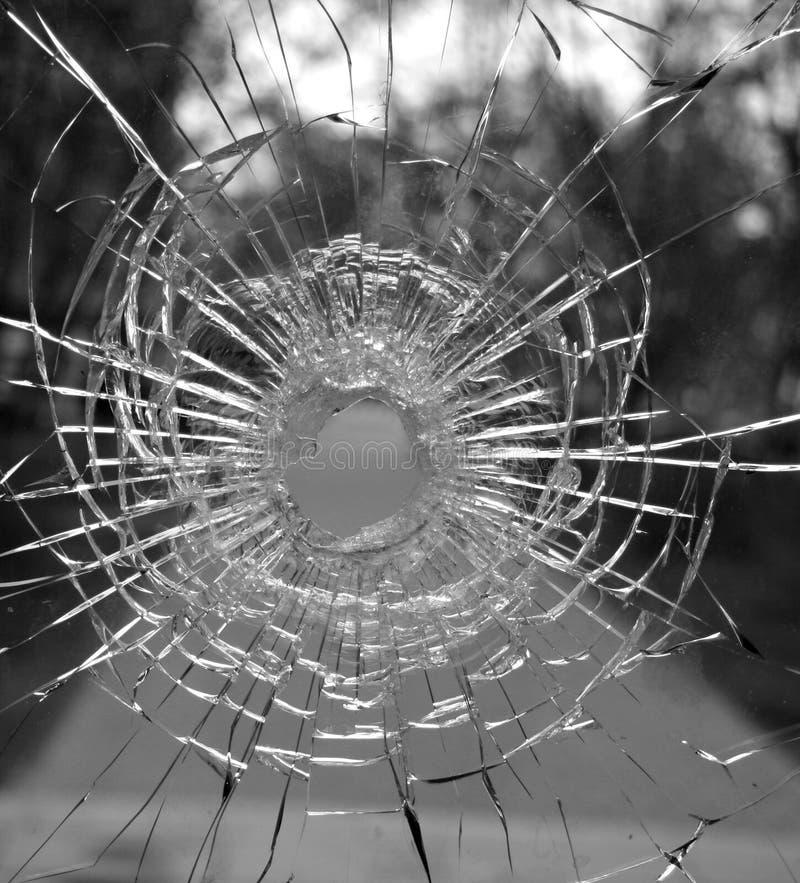 玻璃漏洞 免版税图库摄影