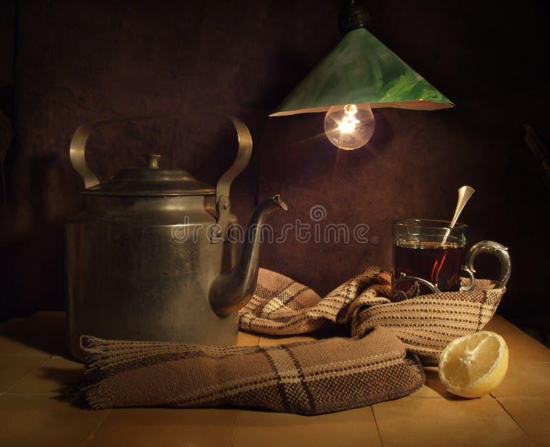 玻璃热茶 免版税库存照片