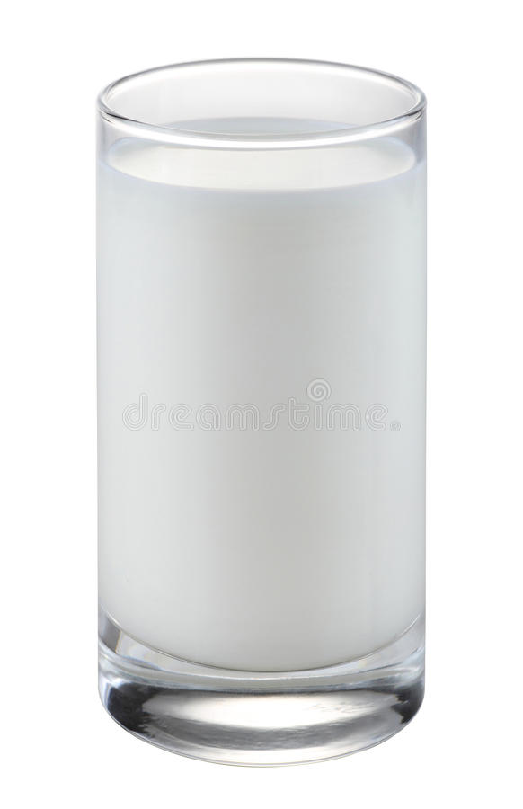 玻璃牛奶 免版税库存图片