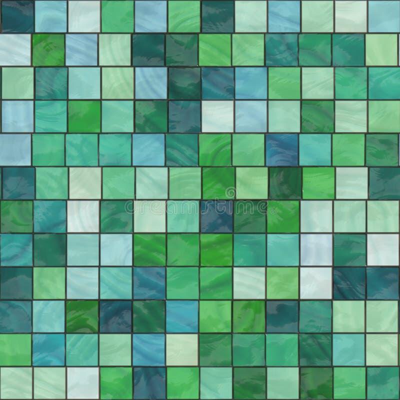玻璃状绿色瓦片 皇族释放例证