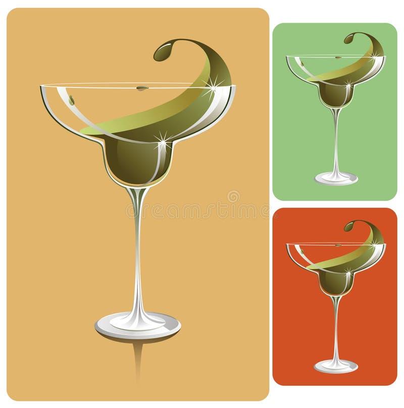 玻璃玛格丽塔酒 向量例证