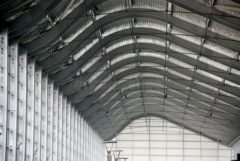 玻璃现代钢structu 库存照片
