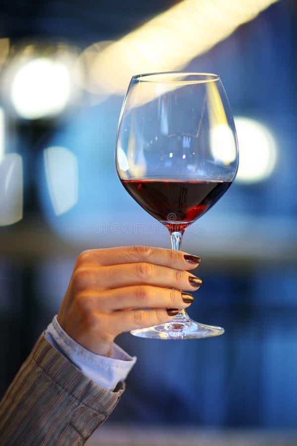 玻璃现有量藏品酒 免版税库存图片