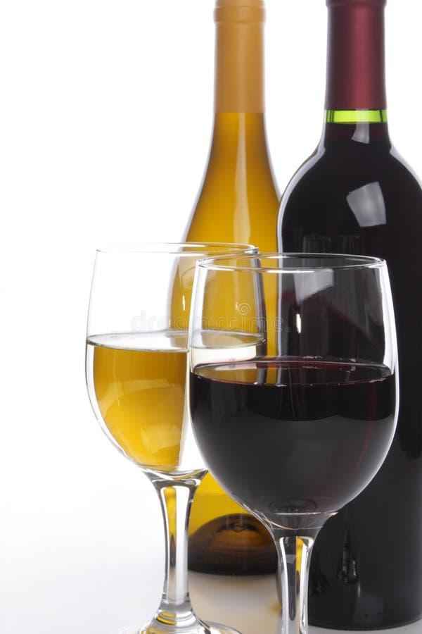 玻璃瓶二酒 免版税库存图片
