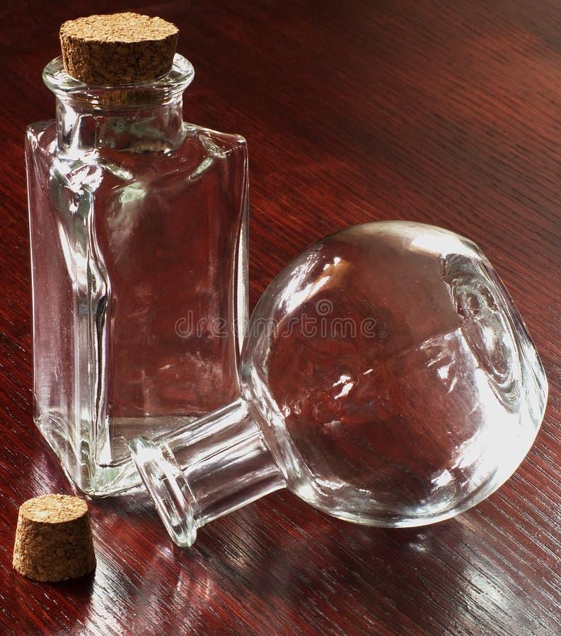 玻璃瓶二 库存图片