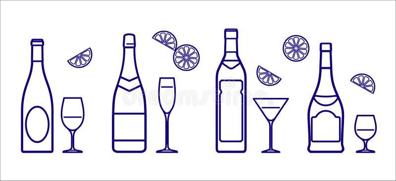 玻璃瓶向量 库存例证