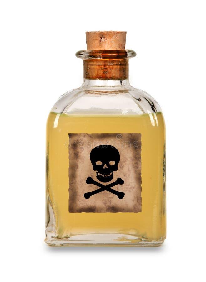 玻璃瓶毒物 免版税库存照片
