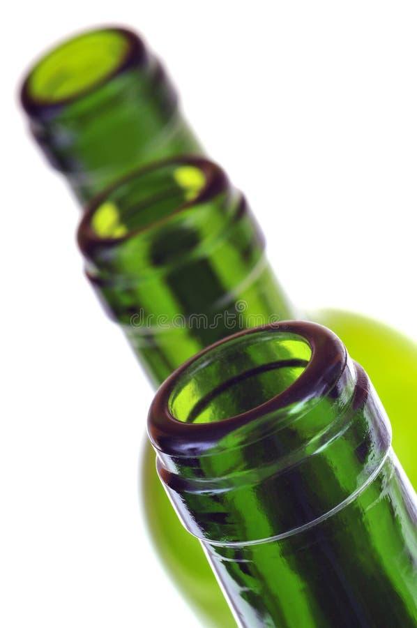 玻璃瓶脖子特写镜头  库存照片