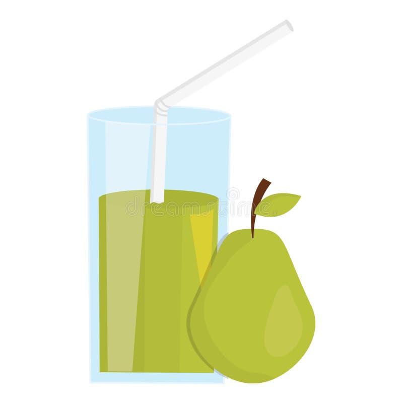 玻璃用梨汁液  皇族释放例证