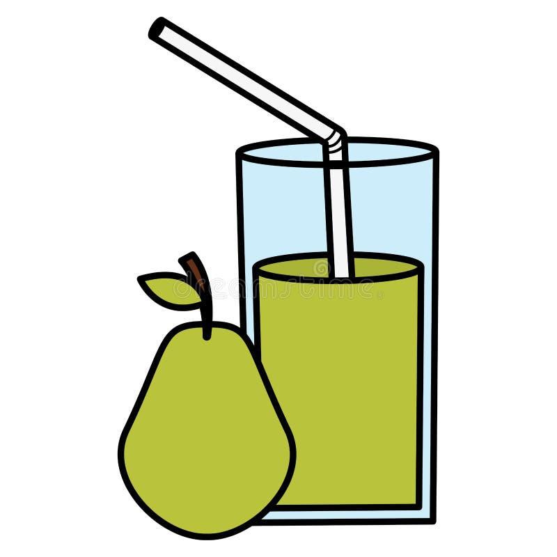 玻璃用梨汁液  向量例证
