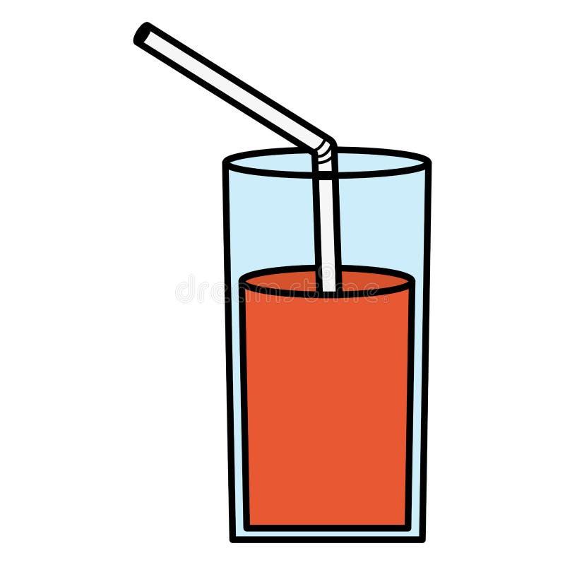 玻璃用汁液果子和秸杆 库存例证