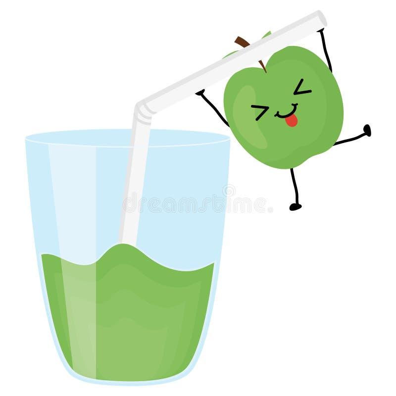 玻璃用汁液果子 库存例证