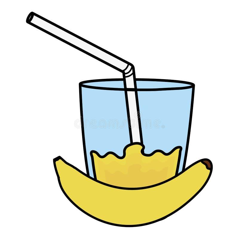 玻璃用香蕉汁液  皇族释放例证
